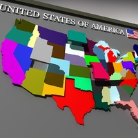 america geographic 3d max