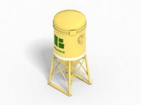 cement silo 3d model