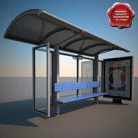 bus stop v8 3d model
