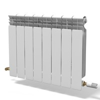 central heating room 3d model