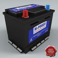 car battery v3 3d model
