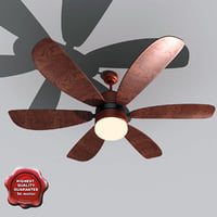 3d ceiling fan v2 model