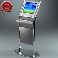 internet kiosk zd-8010 3d model