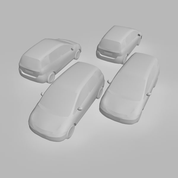 3d car 4 color model - 4 Color & Models Cars Honda Jazz... by Omegavision