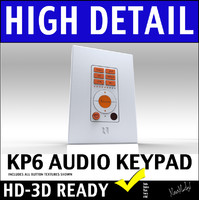 Russound KP6 Home Audio Wall Mount Keypad Sytem 3D Model