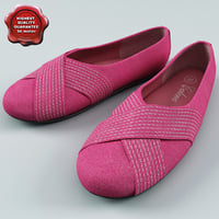 pink ballet women shoes 3d obj