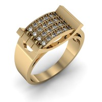 3d ring 1 jewelry model