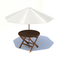 3ds max garden table umbrella