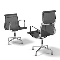 Vitra aluminum group 119 office task executive swivel chair wire wicker