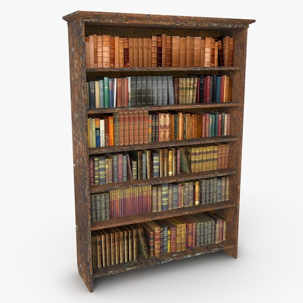 antique bookshelf 3d 3ds - Antique Bookshelf... by NiceModels