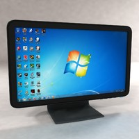 3d widescreen lcd monitor model