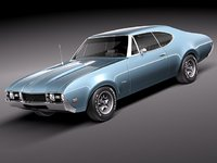 oldsmobile 442 cutlass 1968 3d model