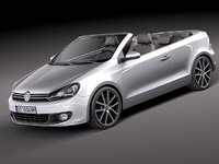 3ds volkswagen golf cabriolet 2012