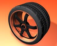 3d wheel rim tires