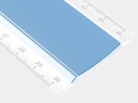 30cm acrylic ruler 3d model