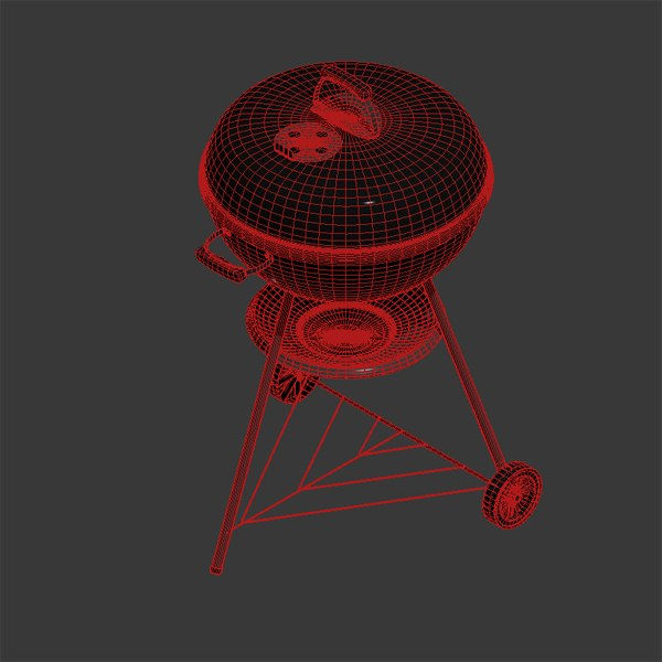 weber barbeque 3d model - Barbeque Weber... by ElmarNieser