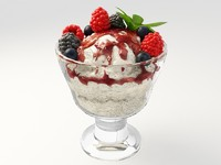 Summer Berry Sundaes