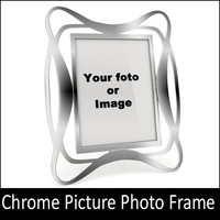 photo frame chrome 3d model