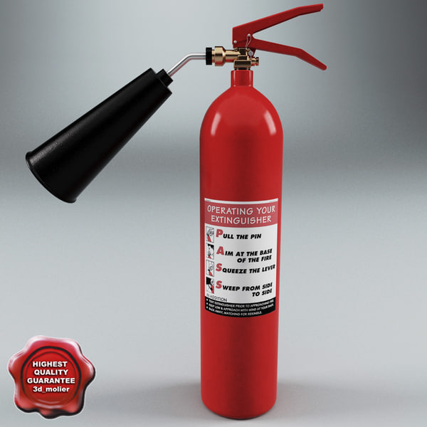 3d 3ds extinguisher v2 - Fire Extinguisher V2... by 3d_molier