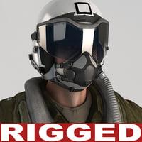 Military Pilot V4 Rigged