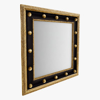 3d max square wall mirror