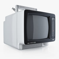 3d model tv portable waltham telestar