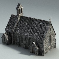 Bagthorpe Church lowpoly
