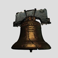 C4D High Poly Liberty Bell