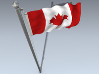 canada flag 3d 3ds