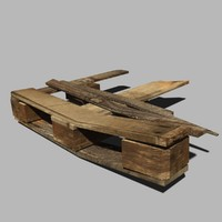 wooden pallet broken03