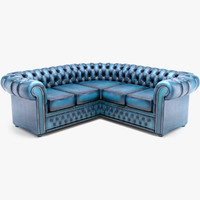 Corner Chesterfield sofa round