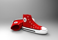 converse shoe (red)