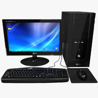 computer black desktop pc 3d max