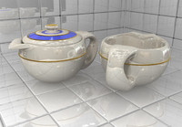 teapot creamer 3d model