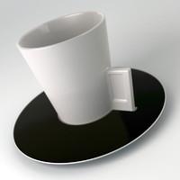 3d delta-q mug saucer model
