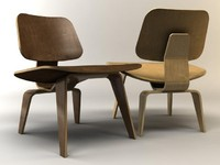3d eames plywood chair lcw