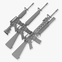 M4 M16a2 and M203 collection