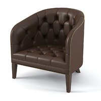 3ds max tufted club chair