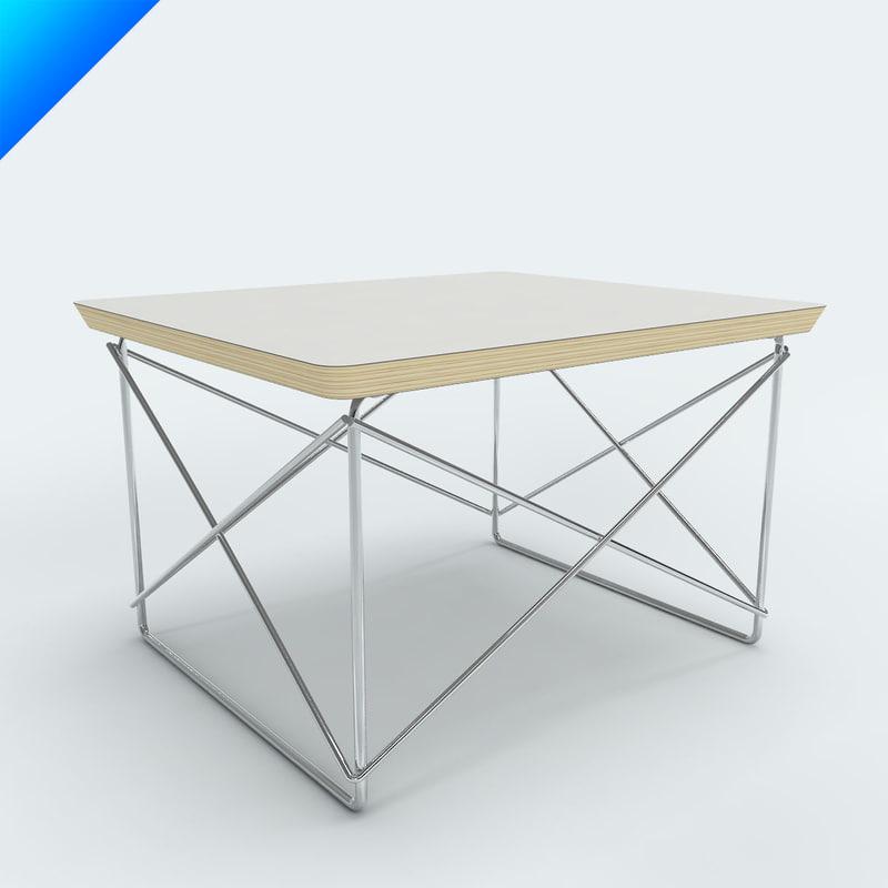 charles eames ltr table 3d model. Black Bedroom Furniture Sets. Home Design Ideas