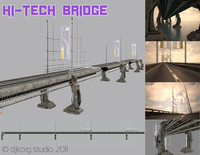 bridge future 3d model