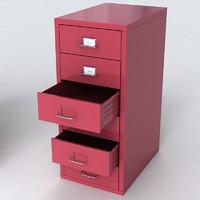 3d office drawer cabinet