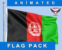 flag afghanistan 3d model