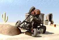 dune buggy desert 3d model