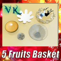 5 Fruit basket and bowls collection.