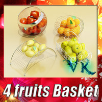 3ds max 4 fruits basket resolution