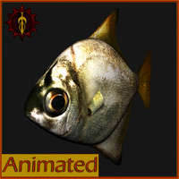 maya realistic rigged fish