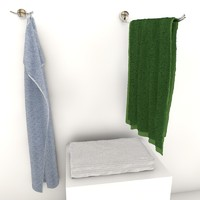 3d model towels hangers hanging