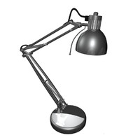 3d swing arm lamp model
