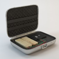 3d briefcase c4 explosives model