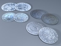 3d model reichspfennigs coins